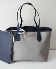 MICHAEL KORS TASCHE Shopper CANDY LG REVERSIBLE TOTE Grey/Navy mit Clutch