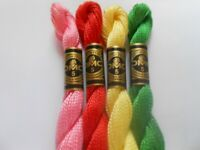 4  x DMC Perle 5 Cotton 5g Skeins Spring/Summer Colours