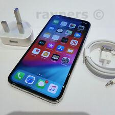 "Apple iPhone X 64GB Sim Free 5.8"" Silver 12MP iOS 12.4 Batt Health 88% A1901"