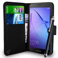 Black Wallet Case PU Leather Book Cover For Huawei Honor 6A Mobile Phone