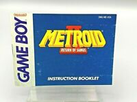 Metroid II: Return of Samus Nintendo Game Boy Manual Only