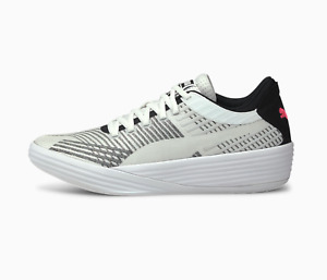Puma Clyde Clyde All-Pro Basketball Shoes White Black Pink 194039_03 Size 5.5-17