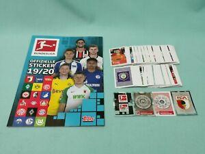 Topps Bundesliga Sticker 2019/2020 komplett Set alle 295 Sticker + Album 19/20