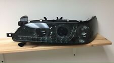 93-97 Toyota Corolla US Spec Type-R Halo Projector Headlights Black Housing