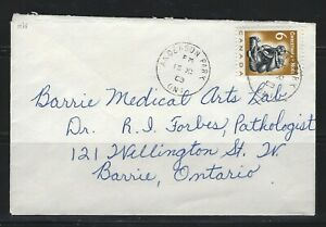 CANADA - #489 - 1968 ANDERSON PARK, ON TO BARRIE, ON COVER