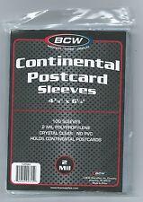 "1000 BCW Postcard Sleeves 4 3/8""x 6 1/4"" Continental/Modern Cards Photos Storage"