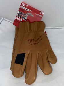 Milwaukee 48-73-0012 Goatskin Leather Gloves - Large New