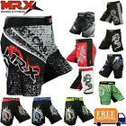 MMA Shorts Grappling UFC Boxing Muay Thai Mens Cage Fight Trunks Slim Fit MRX