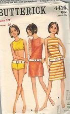 4415 Vintage Butterick Sewing Pattern Misses Dress in Two lengths Swim Suit 10