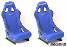Cobra Monaco Pro BLUE Bucket Seats 1 PAIR FIA approved