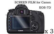 3X HD Ultra LCD Clear Screen Protector Film Cover skin F Canon EOS7D Digital SLR