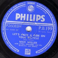 MAX MILLER COMEDY 78 LETS HAVE A RIDE ON YOUR BICYCLE/MY OLD MUM PHILIPS PB199 E