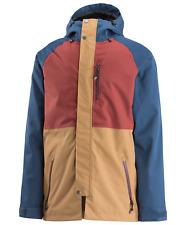 Airblaster Mens Yeti Stretch Snowboard Jacket- Large - Navy Camel - Ski