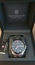 Victorinox Swiss Army FieldForce Chronograph Silver  + Official Silicone Strap
