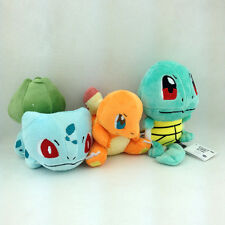 3X Kanto Starter Pokemon Bulbasaur Charmander Plush Toy Stuffed Animal Doll