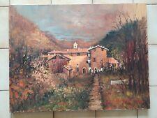 tableau/peinture Paesaggio umbro/paysage de l'ombrie signé R. Fraschetti Roffi
