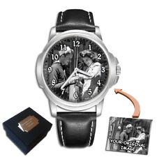 Reloj Pulsera Para Hombre Personalizado personalizado foto mejor regalo de aniversario grabado