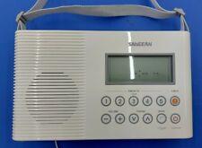 SANGEAN Model H201 AM/FM Weather Digital Tuning Shower Radio Flashlight Used