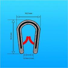 Kantenschutzprofil Klemmbereich 1-4 mm Maße 10x14,5 mm Kantenschutz Kederband