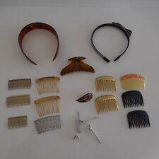 Serre-têtes pince épingles peignes à cheveux vintage XXème