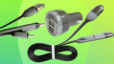 USB to Micro and Lightning connectors combined,Incl 2 port USB Car Charger