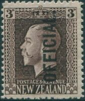 New Zealand official 1915 SGO93 3d chocolate KGV MLH