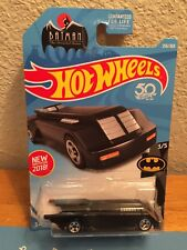 Mattel 2018 Hot Wheels Batman The Animated Series Batmobile #256 Black 50th