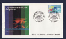 enveloppe 1er jour  nf  championnat du monde cyclisme  Chambery       ; 1989
