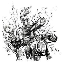 Original Character Design biker punk ink drawing illustration pollard art