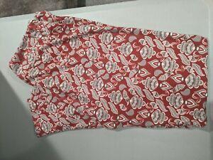 LuLaRoe TC leggings red and gray swirl