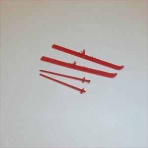 Corgi Toys  436 475 499 Citroen DS19 Estate pair of plastic skis & poles Red