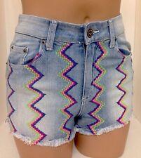 ee18c033c8 Carmar Shorts Light Blue Denim Multi Color Stitching Size 25