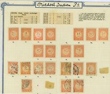 Konvolut 21 Briefmarken Dienstmarken 1922 Niederländisch-Indien Falz Sammlung