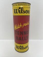 Vintage New Wilson Match-point Tennis Balls Still Pressure Packed Made In USA