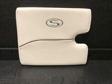 "White Sportsman Cushion w/ Tan Lining and Silver Sportsman Logo 19-1/2"" x 16"""