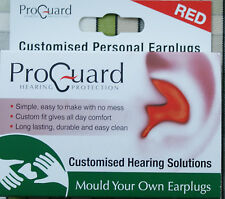 Proguard Mould Your Own MYO Earplugs effective to 24dB Red  DJ Music Musician