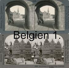 18 STEREOFOTOS BELGIEN, BELGIUM, BRÜSSEL, ANTWERPEN, NAMUR, UM 1910, SERIE 1