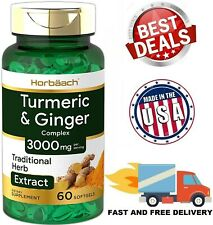 TURMERIC CURCUMIN with BIOPERINE Black Pepper GINGER Extract 3000 mg 60 Capsules