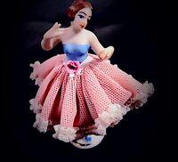 Antique Miniature Dresden Lace Dress Ballerina German Porcelain Figurine