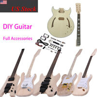 ST TL Style Headless Electric Guitar DIY Kit Basswood Body Fast Shipping T5Y0