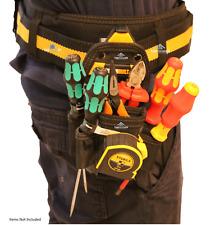 ToughBuilt Tool Belt 7 Pocket Pouch Storage Holder Clips Medium Black Technician