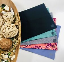 Pack of 5 MIX Fabric BOOK COVERS Stretchable Reusable 9 x 11 Jumbo Made in USA 8