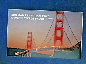 2018-S SILVER REVERSE Proof Set  EMPTY BOX & COA ONLY - 1 ONE BOX