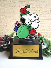 "Vintage Peanuts Snoopy As Santa Claus Aviva Trophy ""Merry Christmas"" Statue"