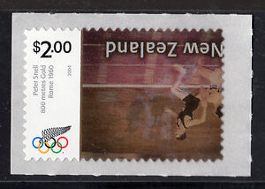 New Zealand 2730a (2004) $2 OLYMPIC Stamp - INVERTED CENTER w/Cert {Scarce/Rare}