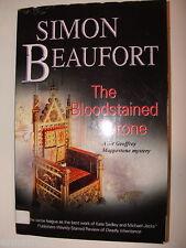Bloodstained Throne Simon Beaufort Susana Gregory 2010 pb Geoffrey Mappestone