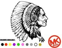 Large Indian Chief Head Caravan Motorhome Car van or Truck vinyl decal sticker