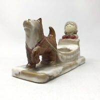 Yankee Candle Tea Light Candle Holder Ronnie Walter Eskimo Girl Husky Dog Sled