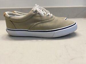 Sperry Top-Sider Men's memory foam boat shoes Tan size 8M EUC