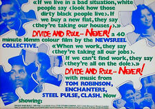 DIVIDE AND RULE - NEVER 1978 Newsreel Collective UK POSTER